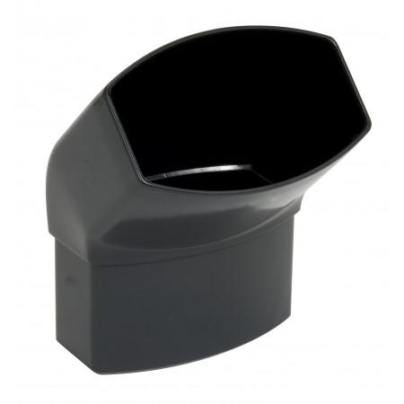 Отвод овальной трубы ПВХ 45⁰ темно-серый D90*56