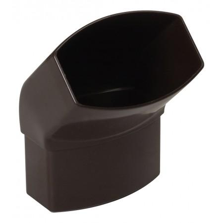 Отвод овальной трубы ПВХ 45⁰ коричневый D90*56