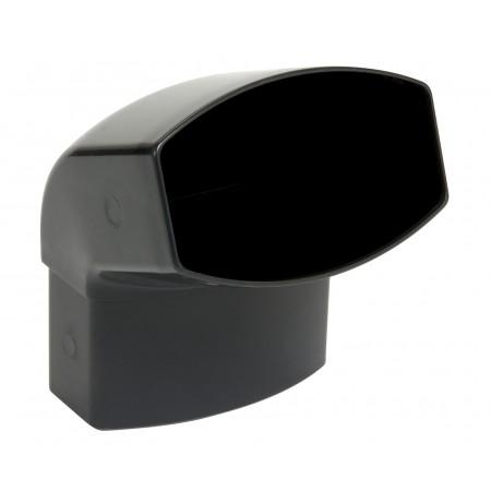 Отвод овальной трубы ПВХ 67⁰ темно-серый D105*76