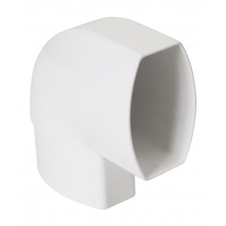 Отвод овальной трубы по плоскости стены ПВХ 87⁰ белый D90*56