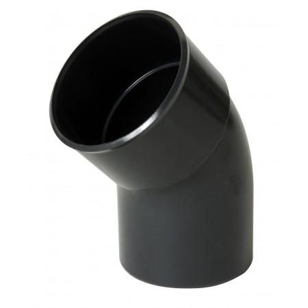 Отвод трубы универсальный ПВХ 45⁰ темно-серый D80