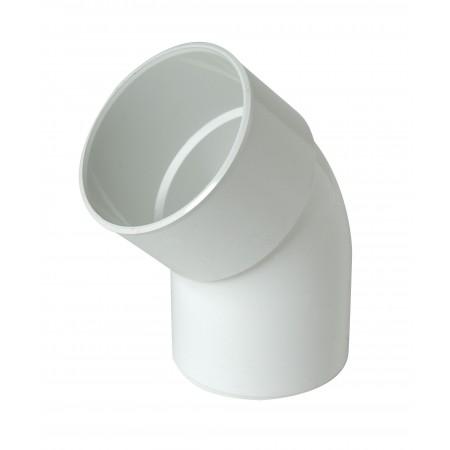 Отвод трубы универсальный ПВХ 45⁰ белый D80