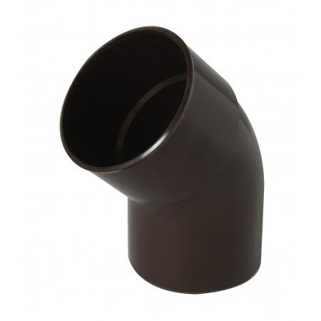 Отвод трубы универсальный ПВХ 45⁰ коричневый D80