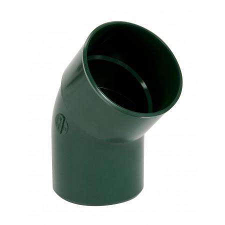Отвод трубы универсальный ПВХ 45⁰ зеленый D80
