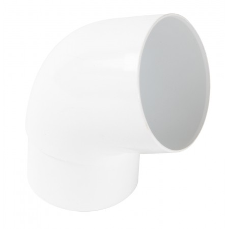 Отвод трубы универсальный ПВХ 67⁰ белый D80