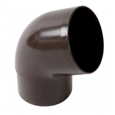 Отвод трубы универсальный ПВХ 67⁰ коричневый D50