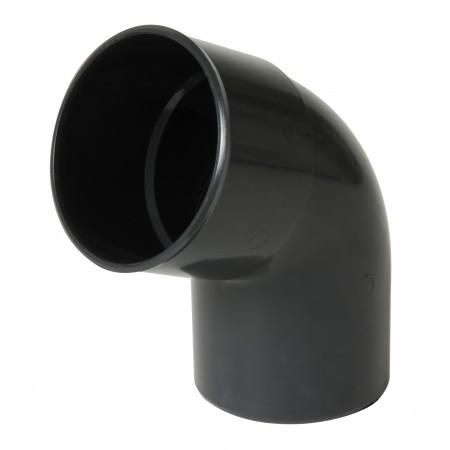 Отвод трубы универсальный ПВХ 67⁰ темно-серый D80