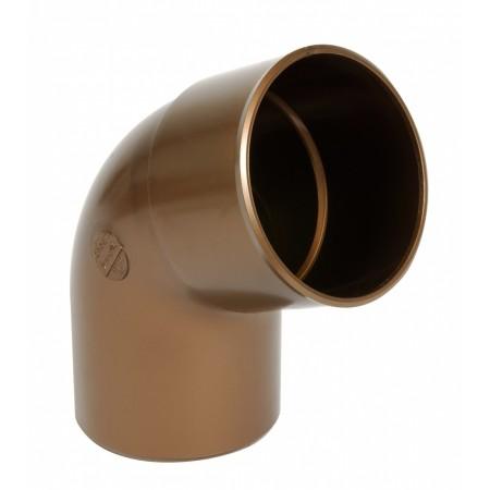 Отвод трубы универсальный ПВХ 67⁰ медный D80