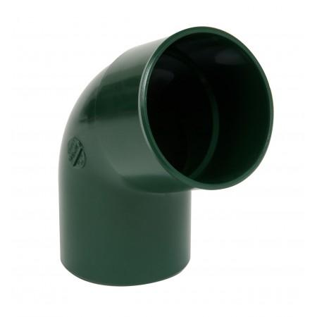 Отвод трубы универсальный ПВХ 67⁰ зеленый D80