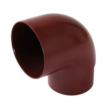 Відвід труби універсальний ПВХ 87⁰ червоний D80