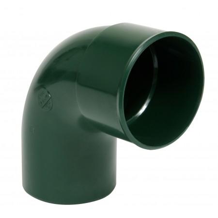 Отвод трубы универсальный ПВХ 87⁰ зеленый D80