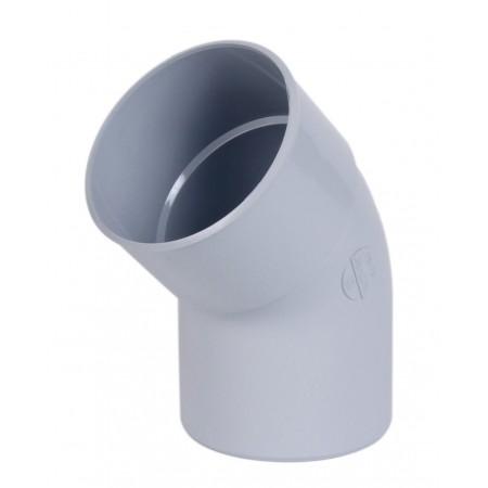 Отвод трубы универсальный ПВХ 67⁰ светло-серый D100