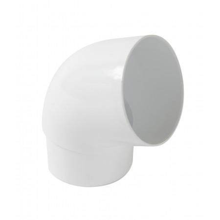 Отвод трубы универсальный ПВХ 67⁰ белый D100