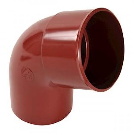 Отвод трубы универсальный ПВХ 67⁰ красный D80