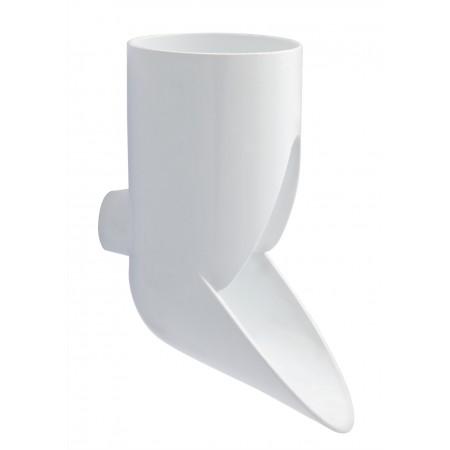 Отвод трубы сливной ПВХ декоративный белый D80