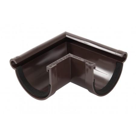 Угол желоба наружный 90⁰ на полиуретановых уплотнителях Classic 16 коричневый