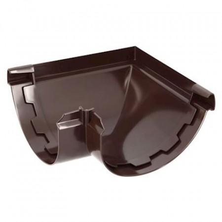 Угол желоба наружный 90⁰ на клеевом соединении Vodalis 29 коричневый