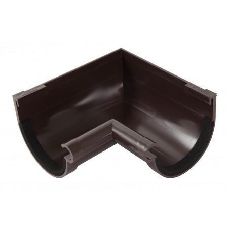 Угол желоба внутренний 90⁰ на полиуретановых уплотнителях Classic 16 коричневый
