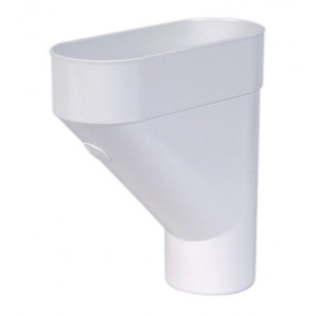 Колектор круглої труби ПВХ білий D80