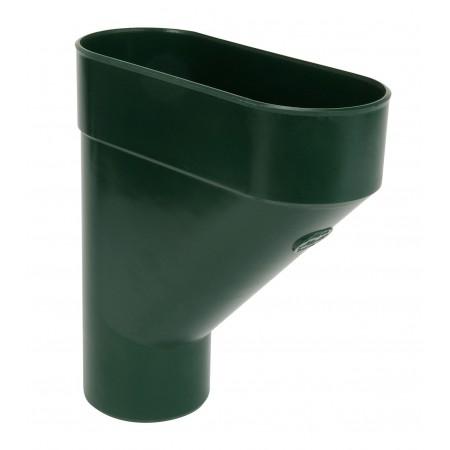 Коллектор круглой трубы ПВХ зеленый D80