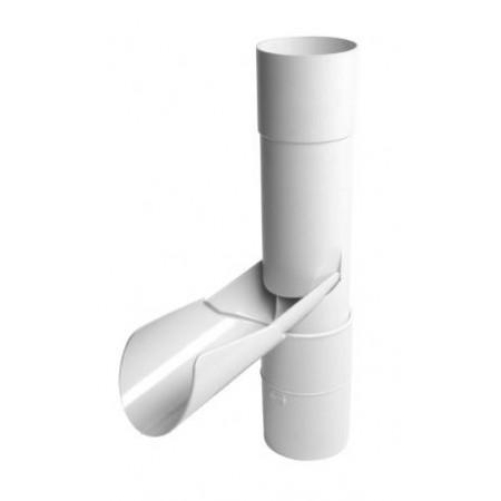Рекуператор дождевой воды с язычком белый D80