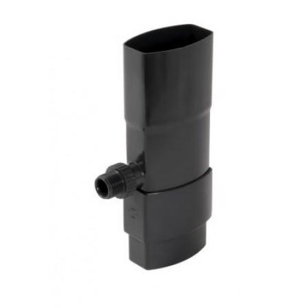 Рекуператор дождевой воды для овальной трубы темно-серый D90*56