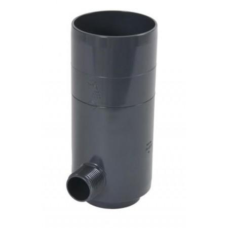 Рекуператор дождевой воды для круглой трубы темно-серый D80