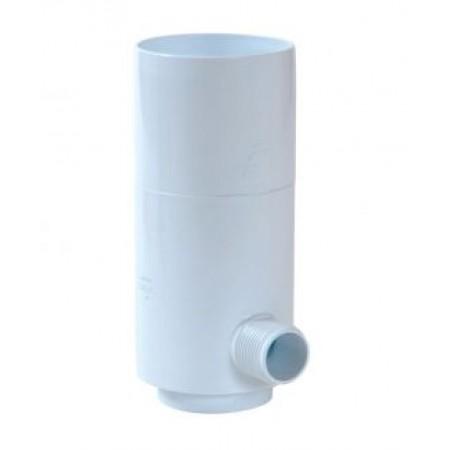 Рекуператор дождевой воды для круглой трубы белый D80