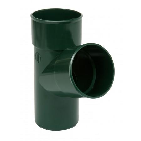 Тройник круглой трубы ПВХ 67⁰ зеленый D80