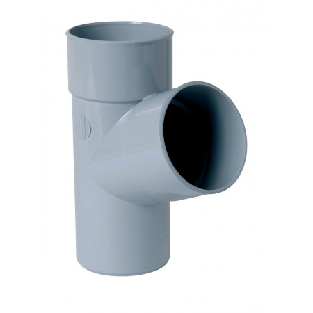 Тройник круглой трубы ПВХ 67⁰ светло-серый D100