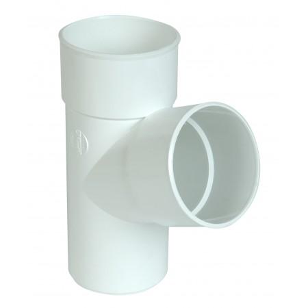 Тройник круглой трубы ПВХ 67⁰ белый D100