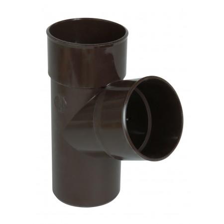 Тройник круглой трубы ПВХ 67⁰ коричневый D100