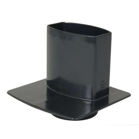 Каналізаційний перехідник овальної труби ПВХ темно-сірий D90*56