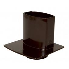 Канализационный переходник овальной трубы ПВХ коричневый D105*76