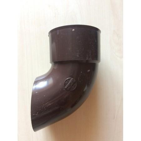 Отвод трубы сливной ПВХ коричневый D80