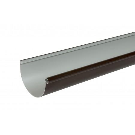 Желоб водосточный Classic 25 полукруглый коричневый 115мм, 4м