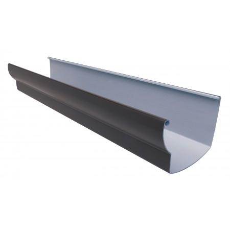 Желоб водосточный Ovation® 28 прямоугольный коричневый 125мм, 4м