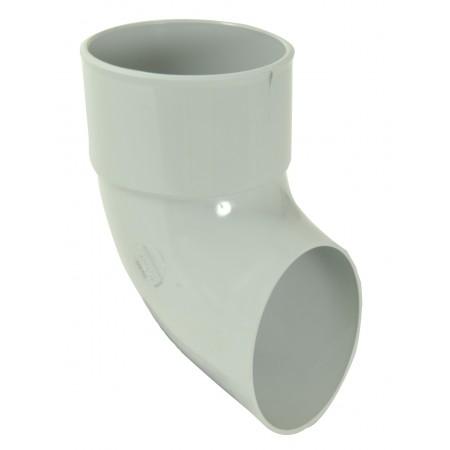 Отвод трубы сливной ПВХ белый D80