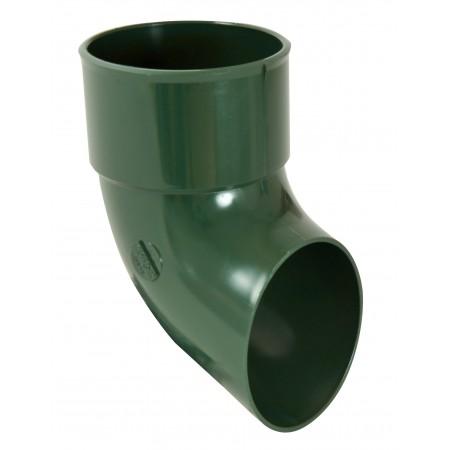 Отвод трубы сливной ПВХ зеленый D80