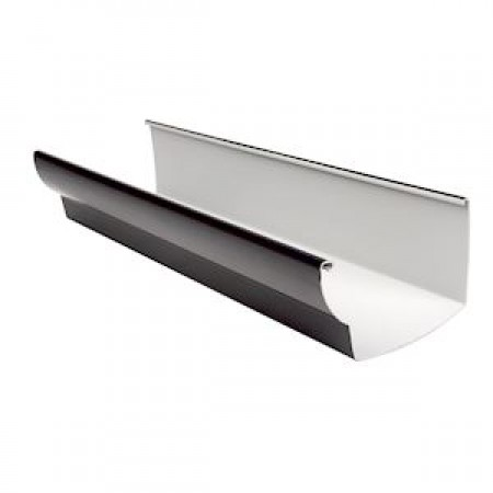 Желоб водосточный Ovation® 38 прямоугольный темно-серый 170мм, 4м