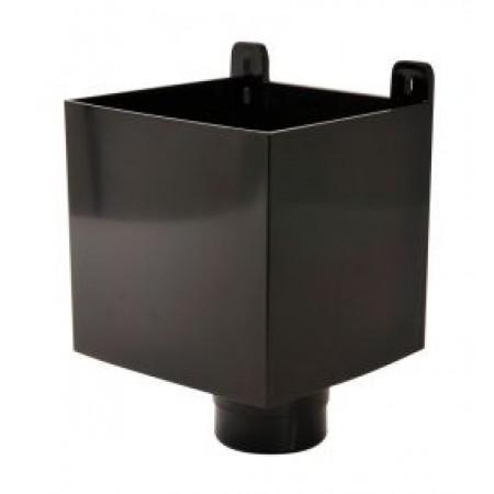 Воронка D80 для отвода воды с плоской кровли черная BAO80N