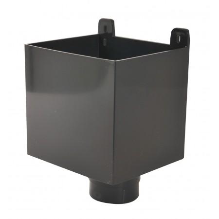 Воронка D80 для отвода воды с плоской кровли тёмно-серая BAO80A
