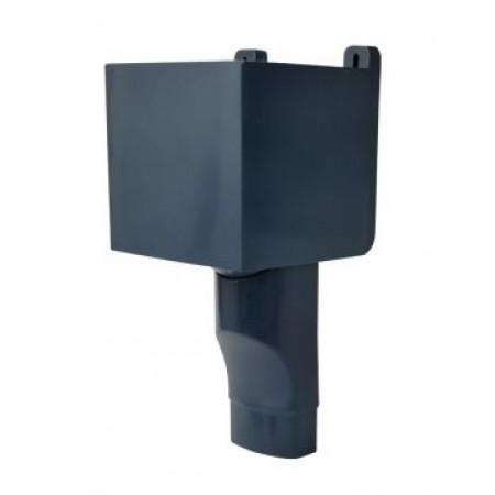 Воронка овального водостока D90х56 для отвода воды с плоской кровли тёмно-серая BAO95A