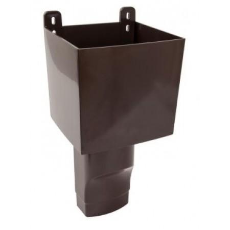 Воронка овального водостока D105х76 для отвода воды с плоской кровли коричневая BAO107М