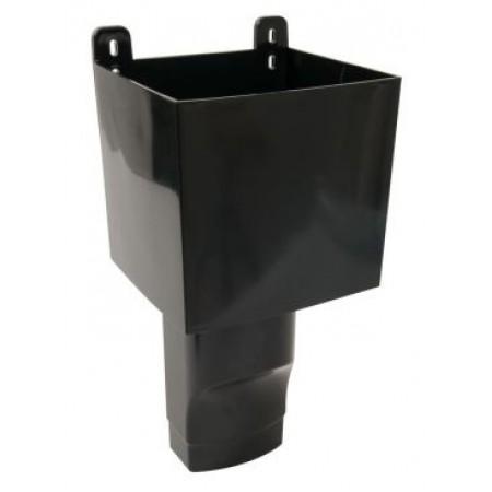 Воронка овального водостока D105х76 для отвода воды с плоской кровли черная BAO107N