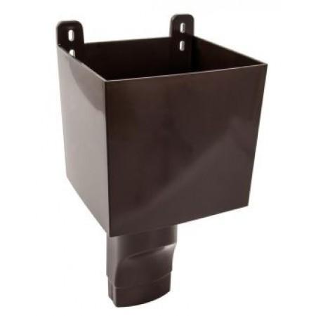 Воронка овального водостока D90х56 для отвода воды с плоской кровли коричневая BAO95M