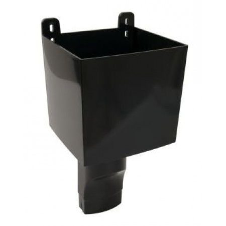 Воронка овального водостока D90х56 для отвода воды с плоской кровли черная BAO95N