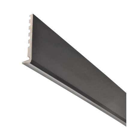 Лобовая планка ПВХ с защитой от УФ-излучения темно-серая