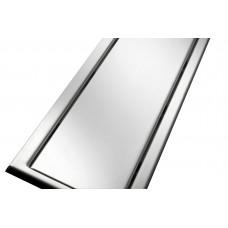 Решітка з нержавіючої сталі для душового каналу 80 мм, дизайн Реверсивна