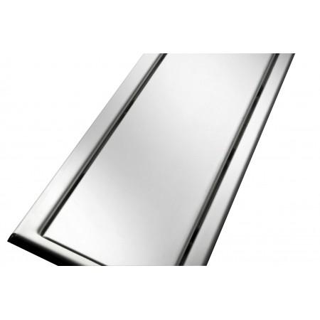 Решётка из нержавеющей стали для душевого канала 80 см, дизайн Реверсивная